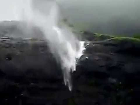 Crazy Nature ! Reverse Waterfall in Pune, India.