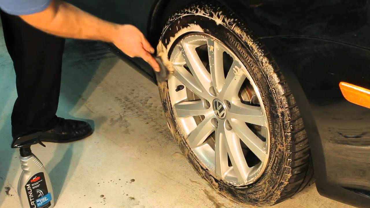 how to clean discolored tires
