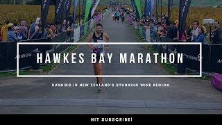 Ben Parkes Running the Hawkes Bay Marathon in New Zealand