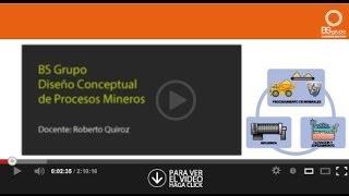 Diseño Conceptual de Procesos Mineros