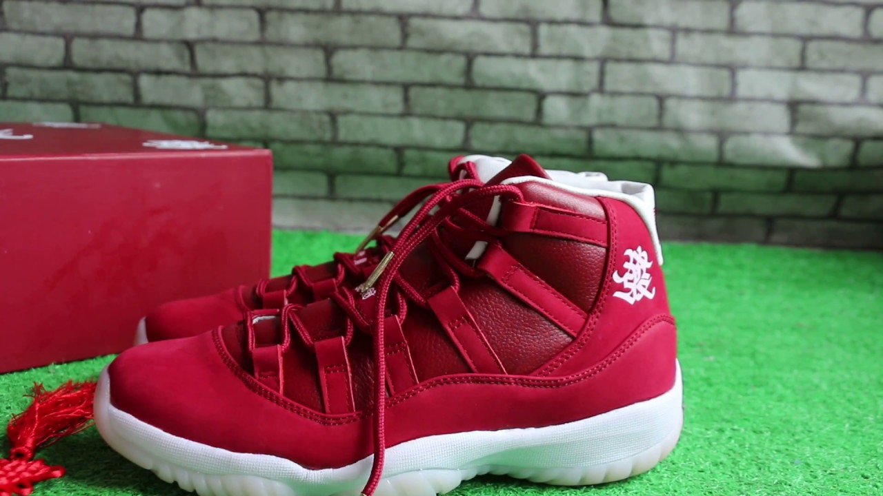 air jordan 11 chinese new year red custom made hd review - Jordan Chinese New Year