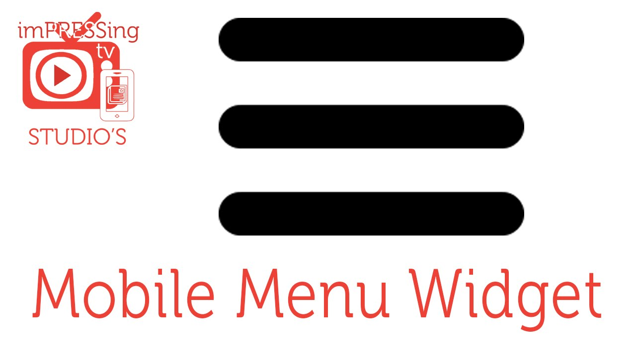 Mobile menu site Widget Adobe Muse©