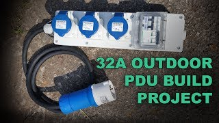 Weatherproof 32A Single Phase Power Distro Build - Heavy Duty PDU for Outdoor Event Power
