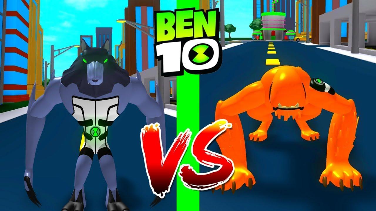 Alien Roblox Ben 10 Roblox Ben 10 Benwolf Vs Wildmutt Roblox Ben 10 Arrival Of Aliens Youtube