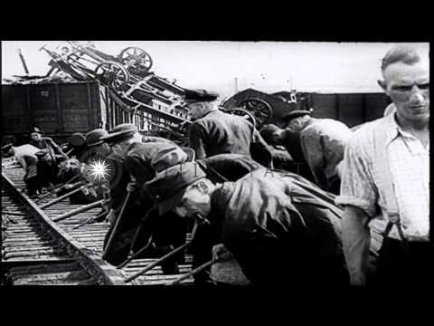 Life in Berlin before and after the World War 2. HD Stock Footage