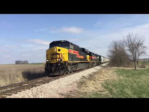 Chasing the Iowa Interstate PESI from Putnam to Bureau, IL w/ NS GP38-2