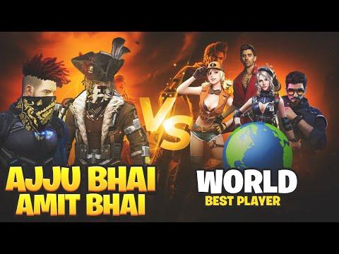 Ajjubhai and Amitbhai vs World Best Player | 2 vs 4 Clash Sqaud | Garena Free Fire