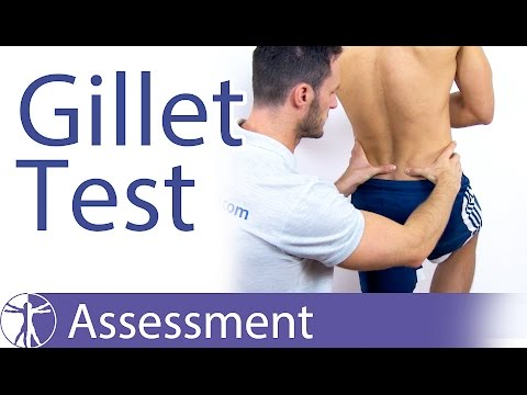 The Gillet Test for SI-Joint Dysfunction