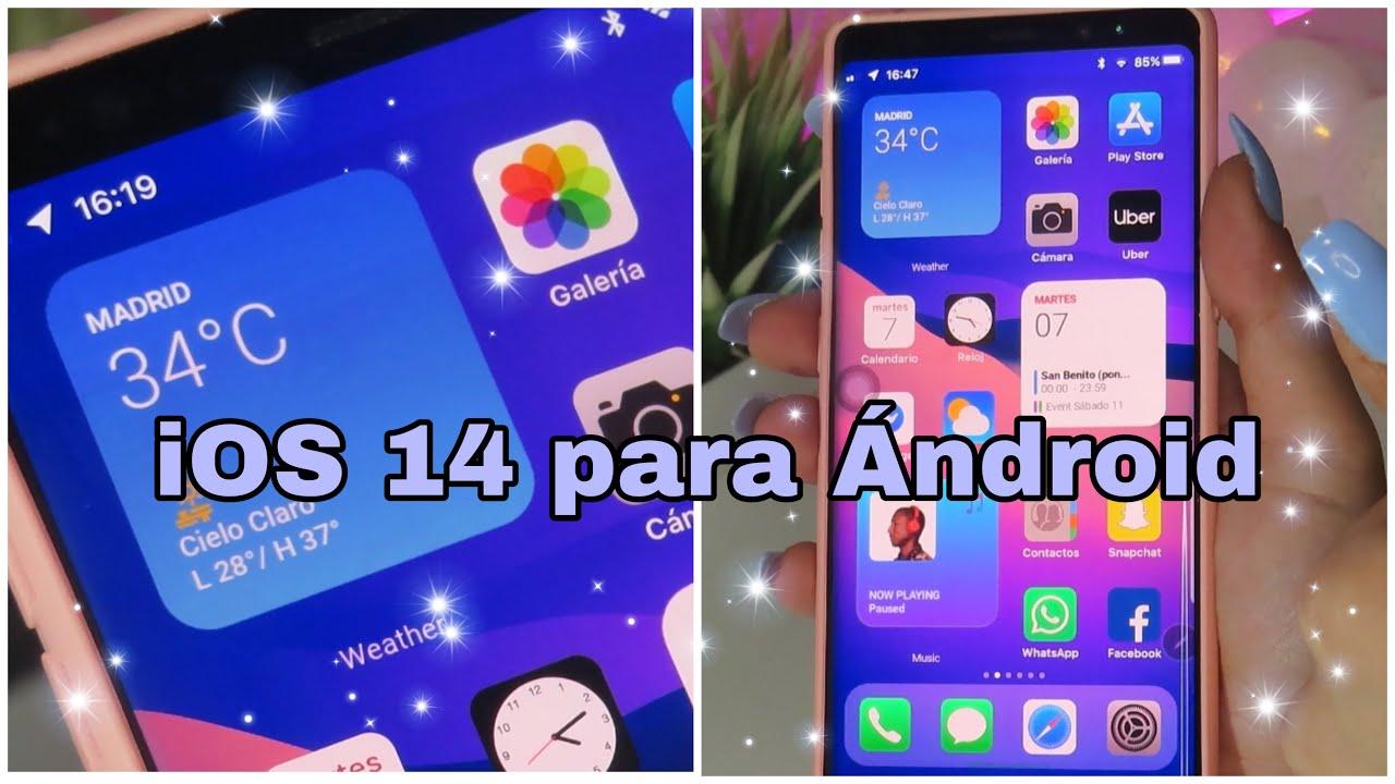 Cómo instalar iOs 14 de iPhone en ANDROID #Conviertetuandroidenuniphone