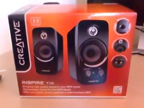 creative inspire t10 unboxing review youtube. Black Bedroom Furniture Sets. Home Design Ideas