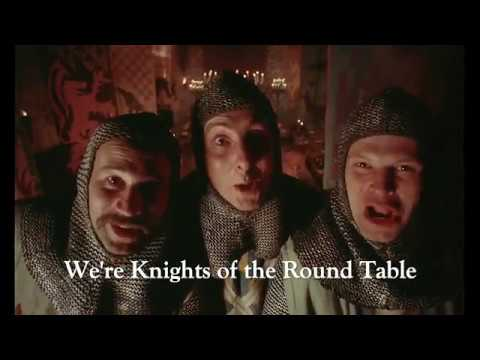 Genial Camelot: Knights Of The Round Table (Monty Python And The Holy Grail) With  Lyrics