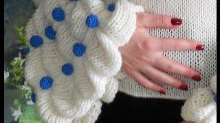 11 Второй способ вязания рукава и воротника для джемпера Королевского