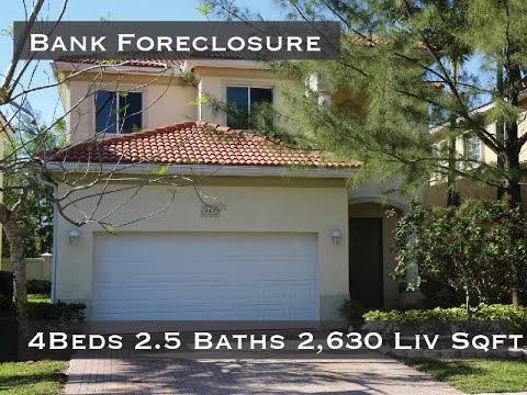 Move In Ready West Palm Beach Bank Foreclosure For Sale 4 Beds 2 5 Baths 2,630 Under Air