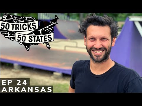 50 Tricks 50 States Skateboarding Challenge   Episode #24   Arkansas