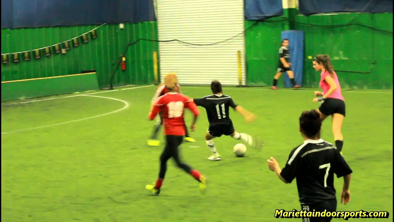 Women Soccer League - Georgia - Indoor Soccer - YouTube