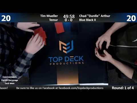 Standard w/ Commentary 12/6/17: Tim Mueller (Temur Energy) vs. Chad Arthur (U/B Control)