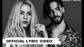 shakira clandestino ft maluma official lyric video