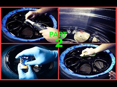 How To Professionally Detail Car Rims/Wheels Part 2 Polishing & Protecting