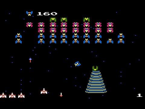 galaga gameplay arcade 1981 youtube
