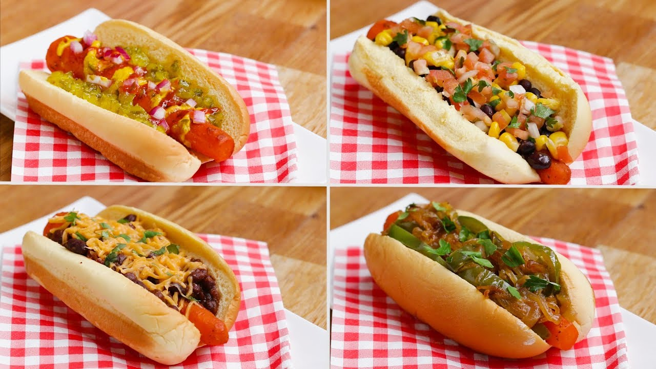 Carrot Dogs 4 ways