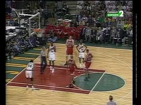NBA Finales 1996 Partido 3 Seatle Supersonics vs Chicago Bulls (Montes y Daimiel)