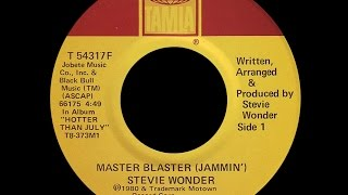 Gambar cover Stevie Wonder ~ Master Blaster (Jammin') 1980 Reggae Purrfection Version