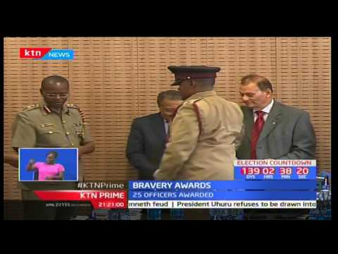 25 Kenyan police officers receive awards as they are honoured for their bravery