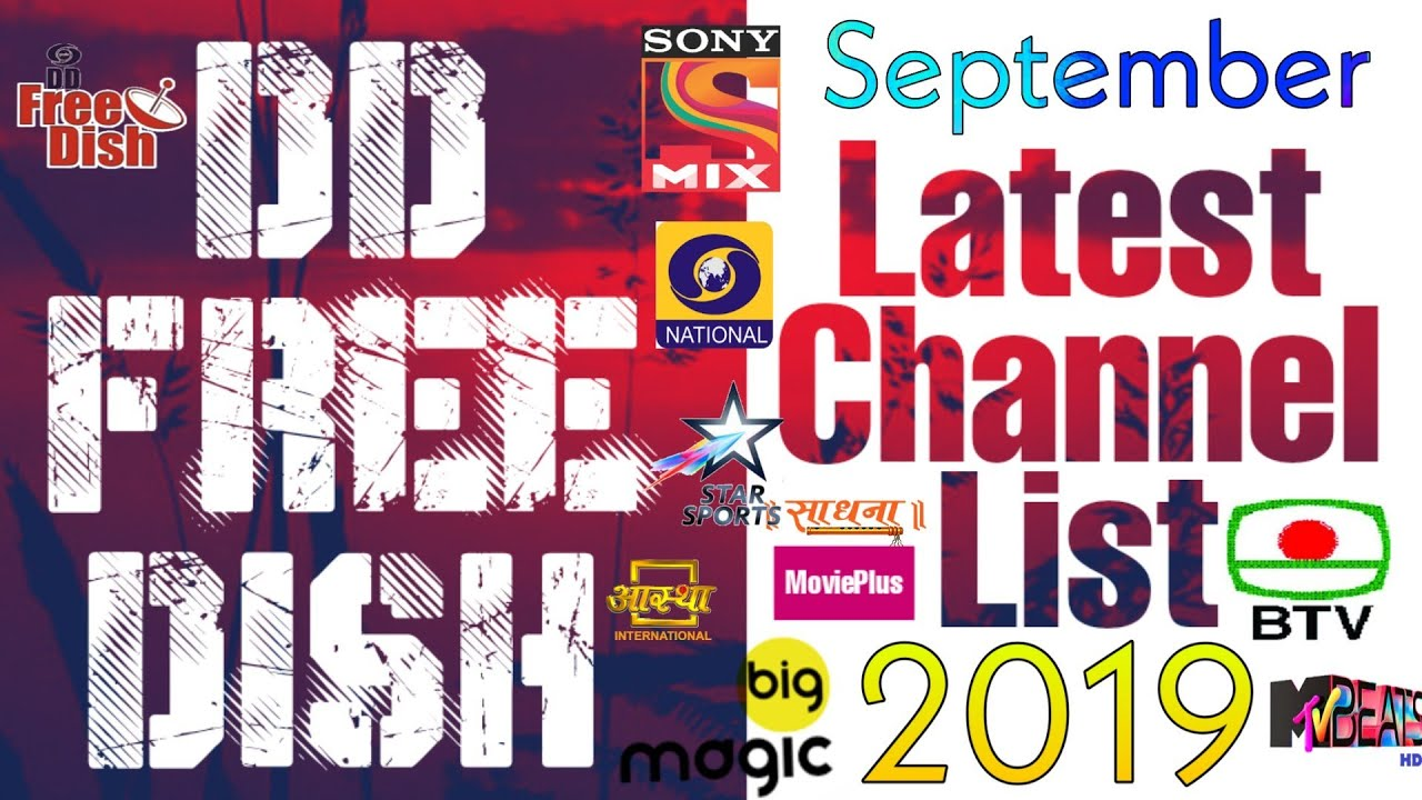 DD Free Dish Latest Updated Channel List 12 September 2019||JK Dish Info