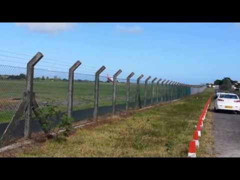 Airport Plaisance - Air Mauritius Taking off 3 Nov 2013