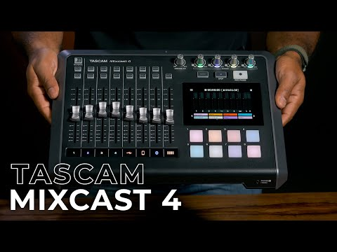 TASCAM Mixcast 4: An All-in-One Podcasting Station! | First Look