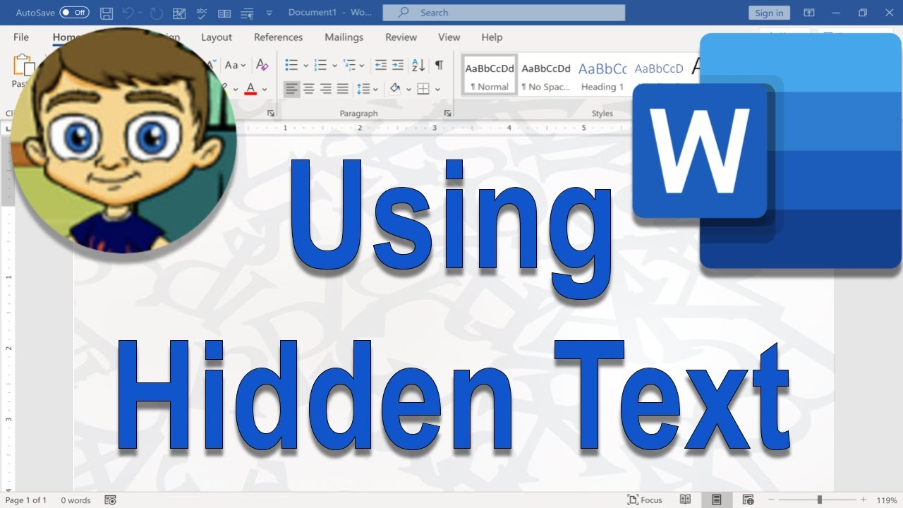 Using Hidden Text in Microsoft Word