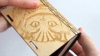 Business Card Holder Laser Cut Plywood With Engrave Cat