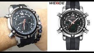 Unboxing Relógio Weide 5205. Detalhes e link Weide Watch TOP e Barato