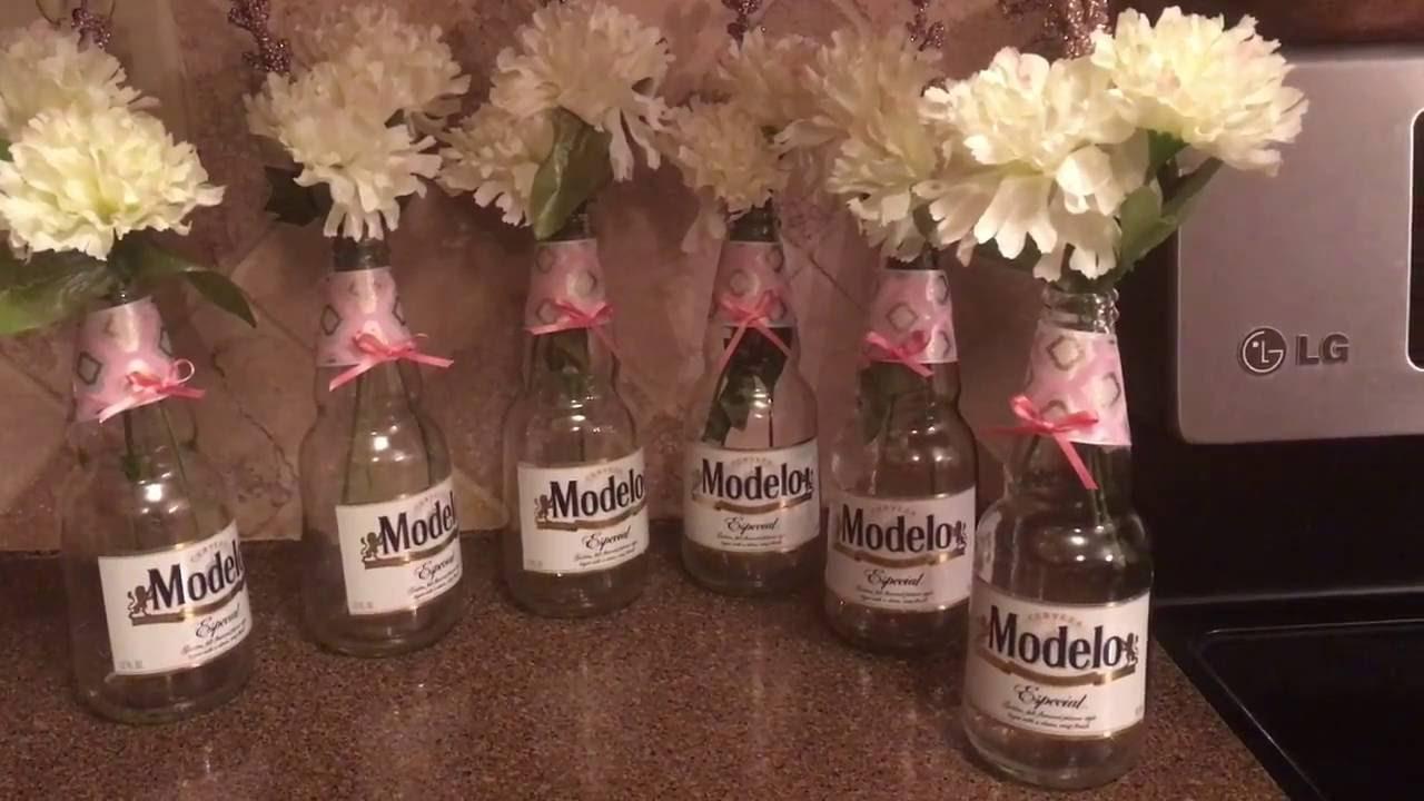 Arreglos de mesa con botellas de cerveza youtube - Centros de mesa con botellas ...