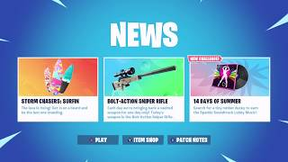 NEW Fortnite 14 Days of Summer 'DAY 13' Reward & Challenge, Beach Bomber Skin, Stranger Things, Etc.
