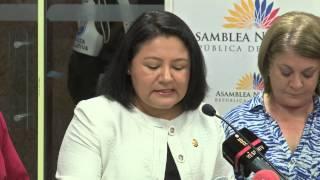 Dora Aguirre en rueda de prensa - #LeyDeMovilidadHumana - 2da intervención
