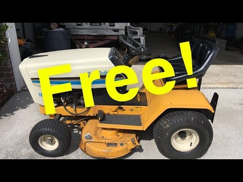 Got a New OLD 38 Inch Cub Cadet Riding Mower for FREE - However... LOL