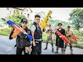 LTT Nerf War : Couple SEAL X Warriors Nerf Guns Fight Criminal Group Dr Lee Dangerous Base 2