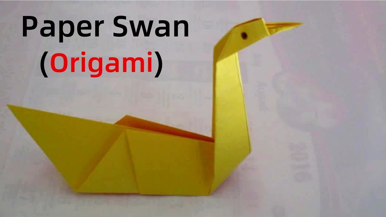 origami swan how to make an origami swan for beginners