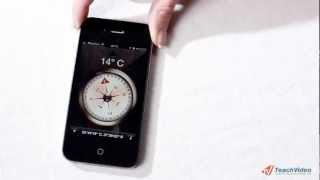 Компас в iPhone 4 (25/30)(В данном видеоуроке мы рассмотрим функции приложения