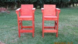 Deck Stools Made From 2x4's - # 001