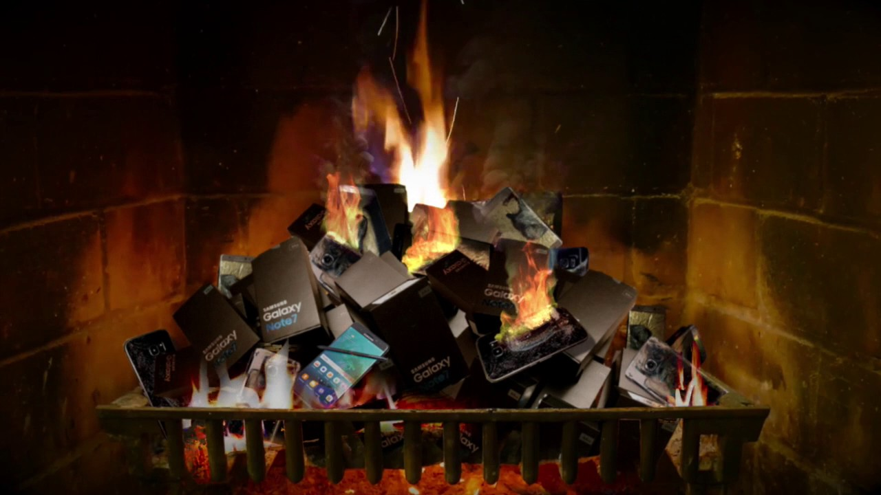 samsung galaxy note 7 fireplace with relaxing ringtone music youtube