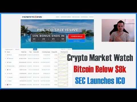 Crypto Market Update - Bitcoin Below $8k, SEC Launches ICO Site as Warning