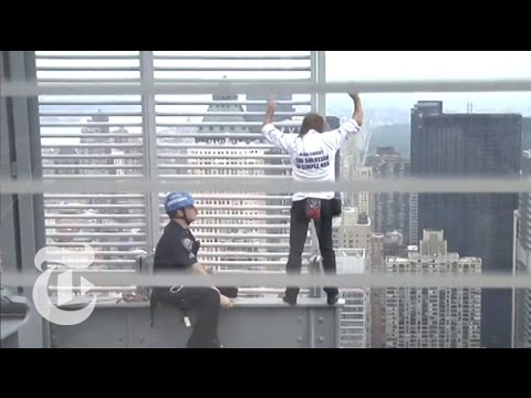 Man Scales Times Building   The New York Times