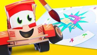 Мультфильмы с грузовиками для детей -  Грузовичок-художница - Truck Games