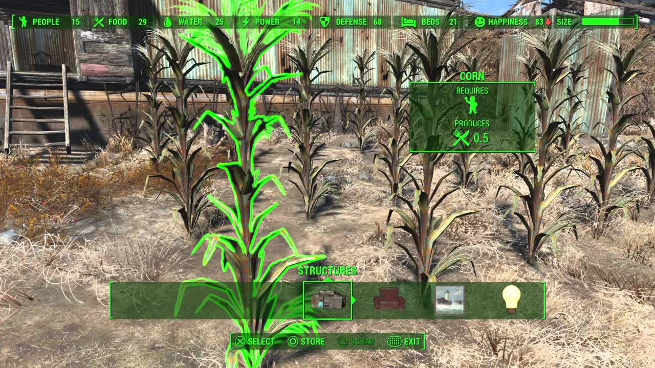 Fallout  How To Make Food For Settlers