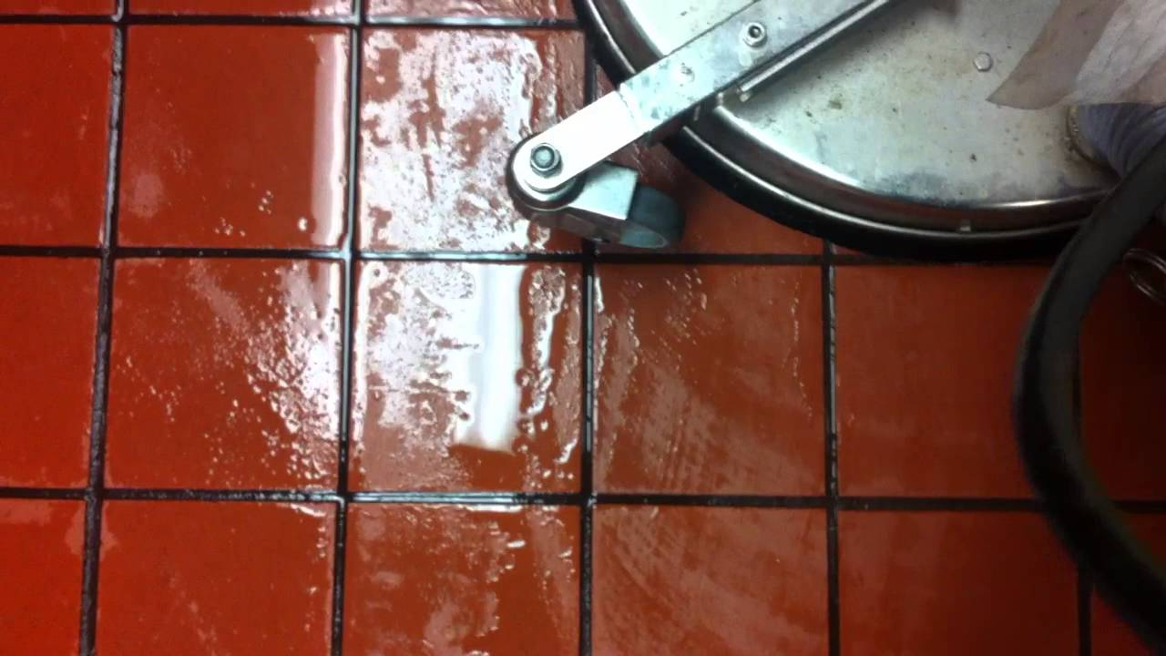 Restaurant Kitchen Floor Grout Cleaning