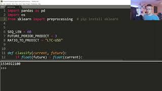 Normalize ve oluşturma dizileri Crypto RNN - Derin Öğrenme w/ Python, TensorFlow ve Keras p.9