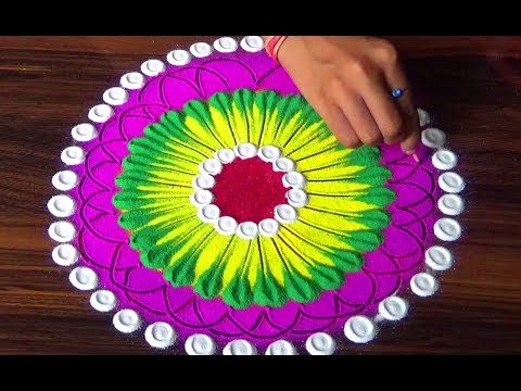 Diwali new trick colourful rangoli designs | इस दिवाली पर बनाये Beautiful Rangoli Designs