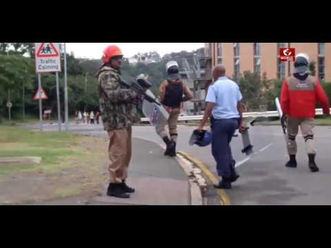 South Africa news - tones lobbed; shots fired at UKZN